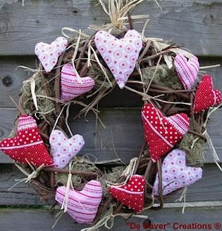 hartenkrans voor valentijnsdag