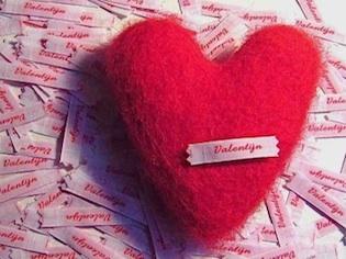 vilten valentijnshart