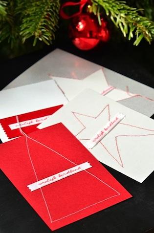 Zelf Kerstkaarten Maken Creatief Met Labels En Lint