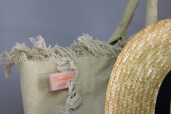 clothing label to personalise your beachbag